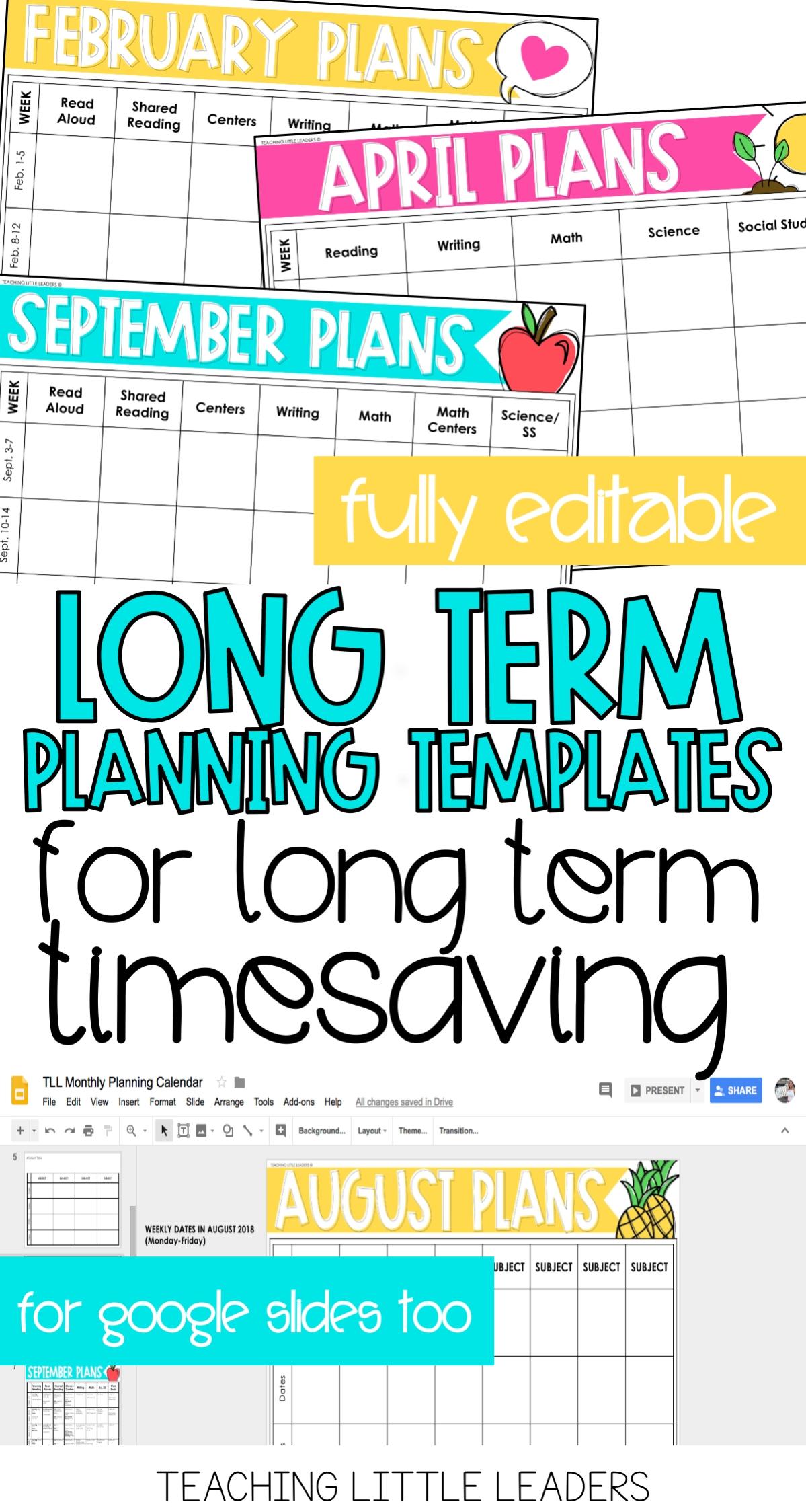 Monthly Planning Calendar Templates {Digital & Editable within Monthly Lesson Plan Calendar Template