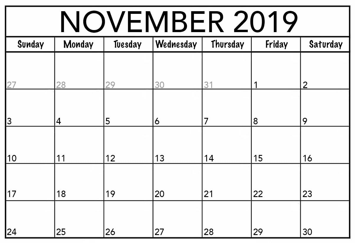November 2019 Calendar Canada Printable - 2019 Calendars For with regard to Free Printable 2020 Canadian Calendar Motivational