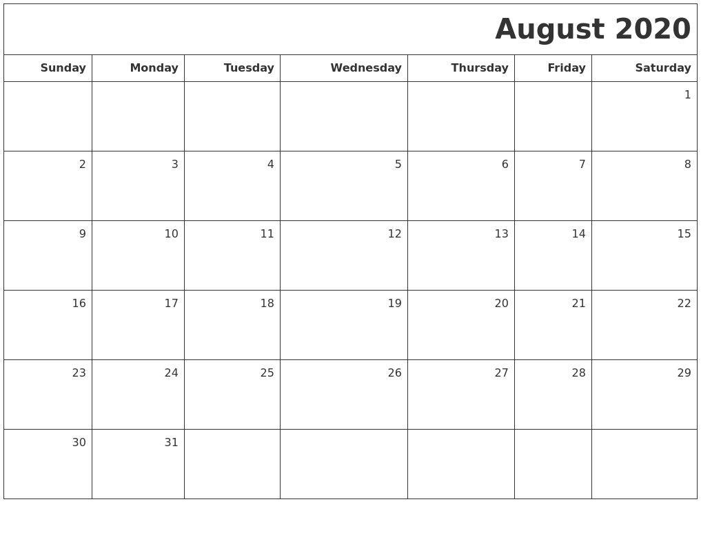 November 2020 Print A Calendar 2020 Calendars Free Printable with regard to 2020 Printable Fill In Calendar