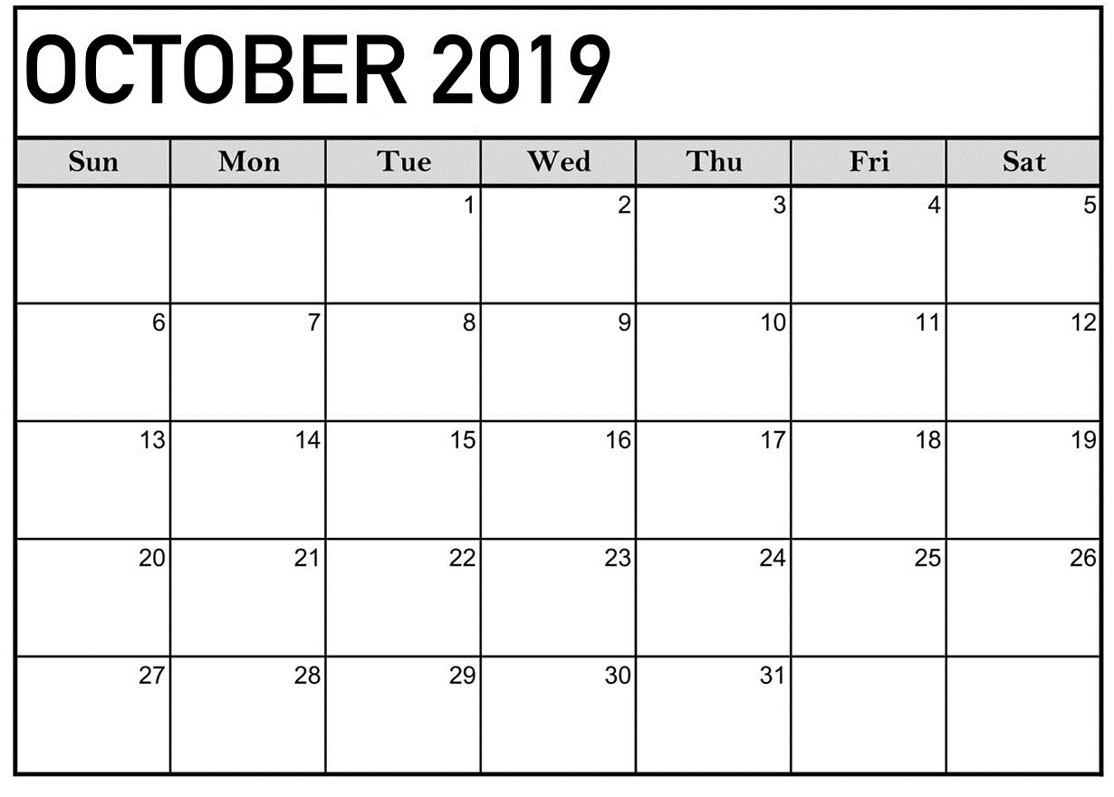 October 2019 Calendar Printable Word Template - Latest intended for Pocket Size Monthly Calendar Printable
