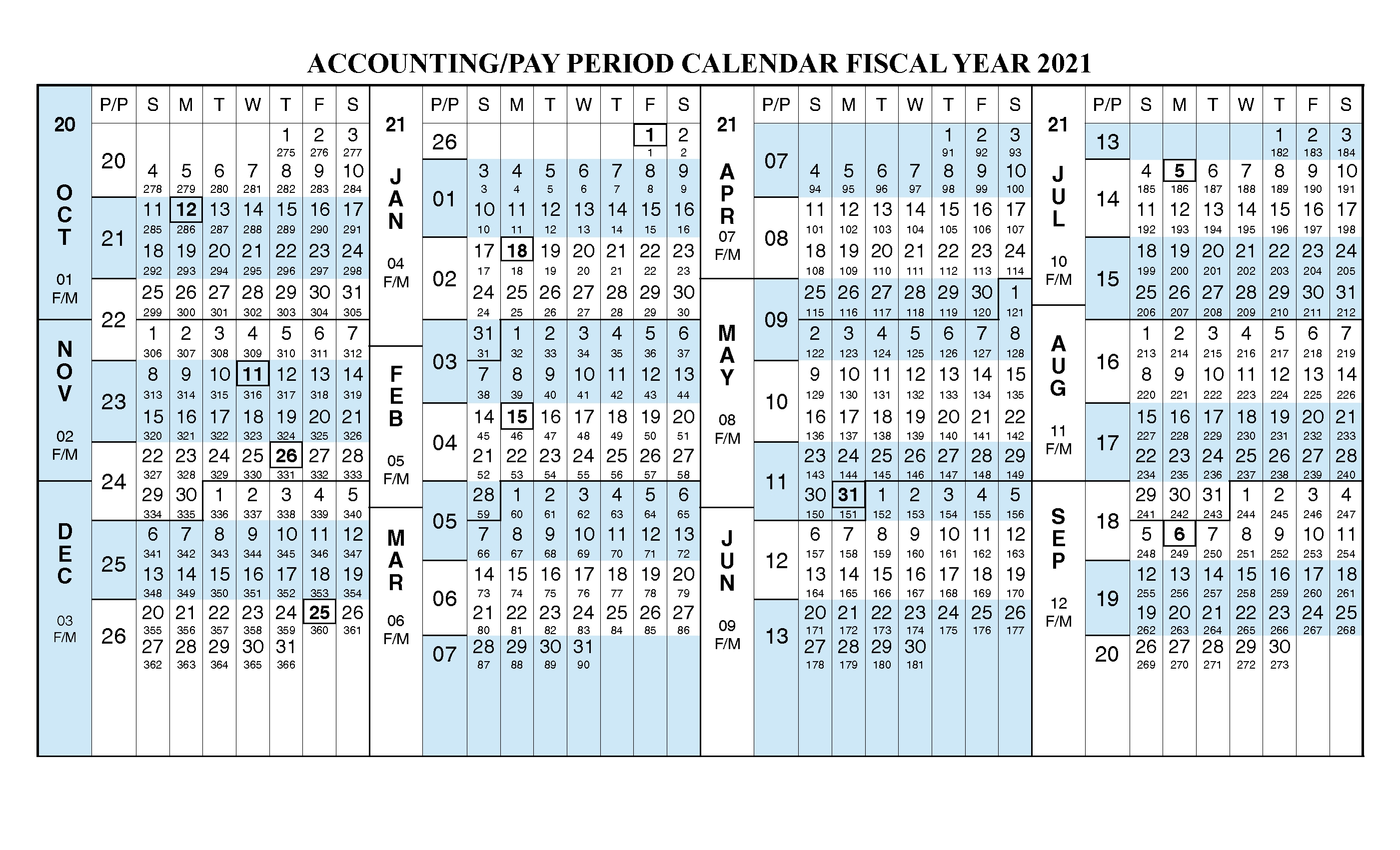 Payroll Calendar 2021 Fiscal Year Calendar [ Oct 2020 - Sep with 2020 Fiscal Calendar To Print