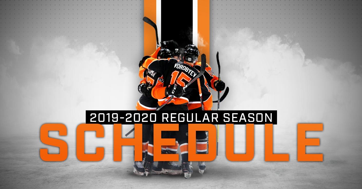 Phantoms Announce 2019-20 Regular Season Schedule - Lehigh with Nashille Predators 2019-2020 Calendar Printable