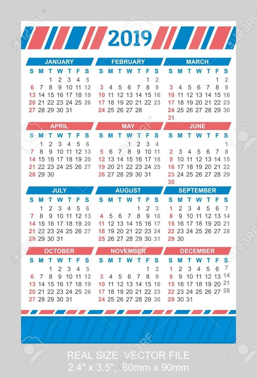 Pocket Calendar 2019 - Colona.rsd7 in How To Print A Pocket Calander