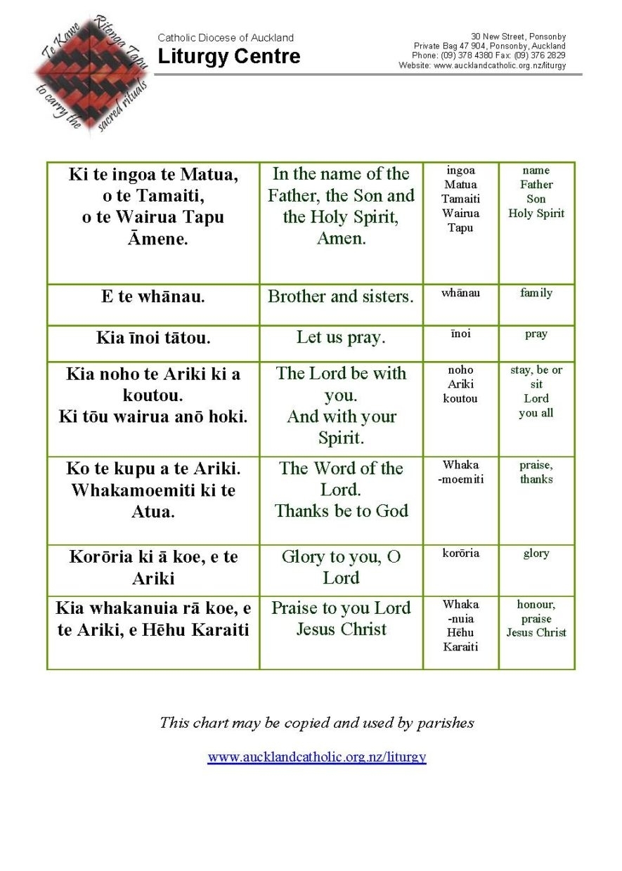 Preparation Material And Liturgy Outlines - Catholic Diocese in Liturgical Year 2020 Lesson Plan