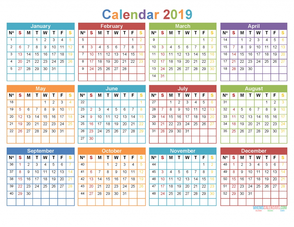 Printable 2019 12 Month Calendar Template Word, Pdf [ Us in 2020 12 Month Monday To Sunday Calendar Template
