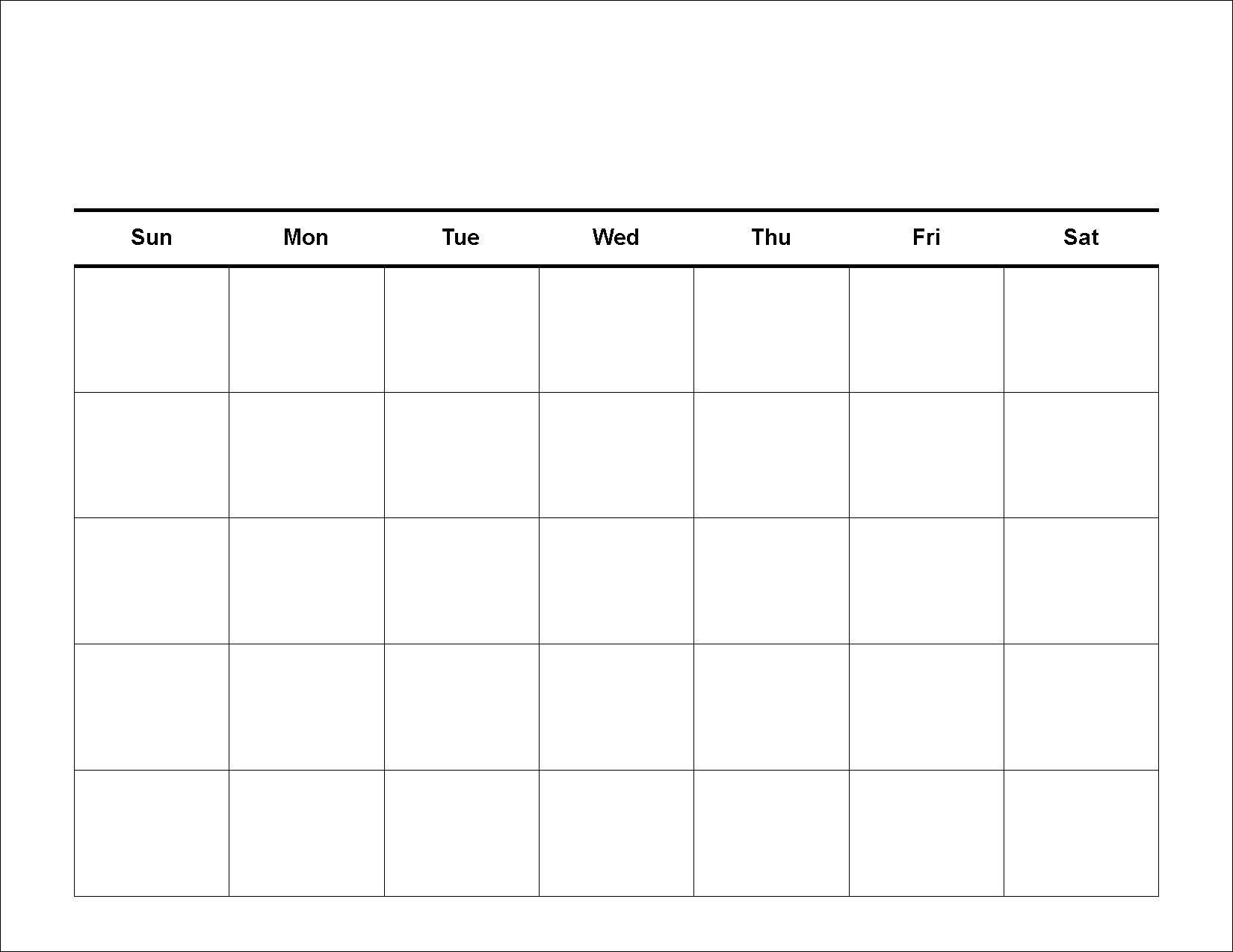 Printable 30 Day Blank Calendar In 2020 | Weekly Calendar intended for 30 Day Calendars Free Printable