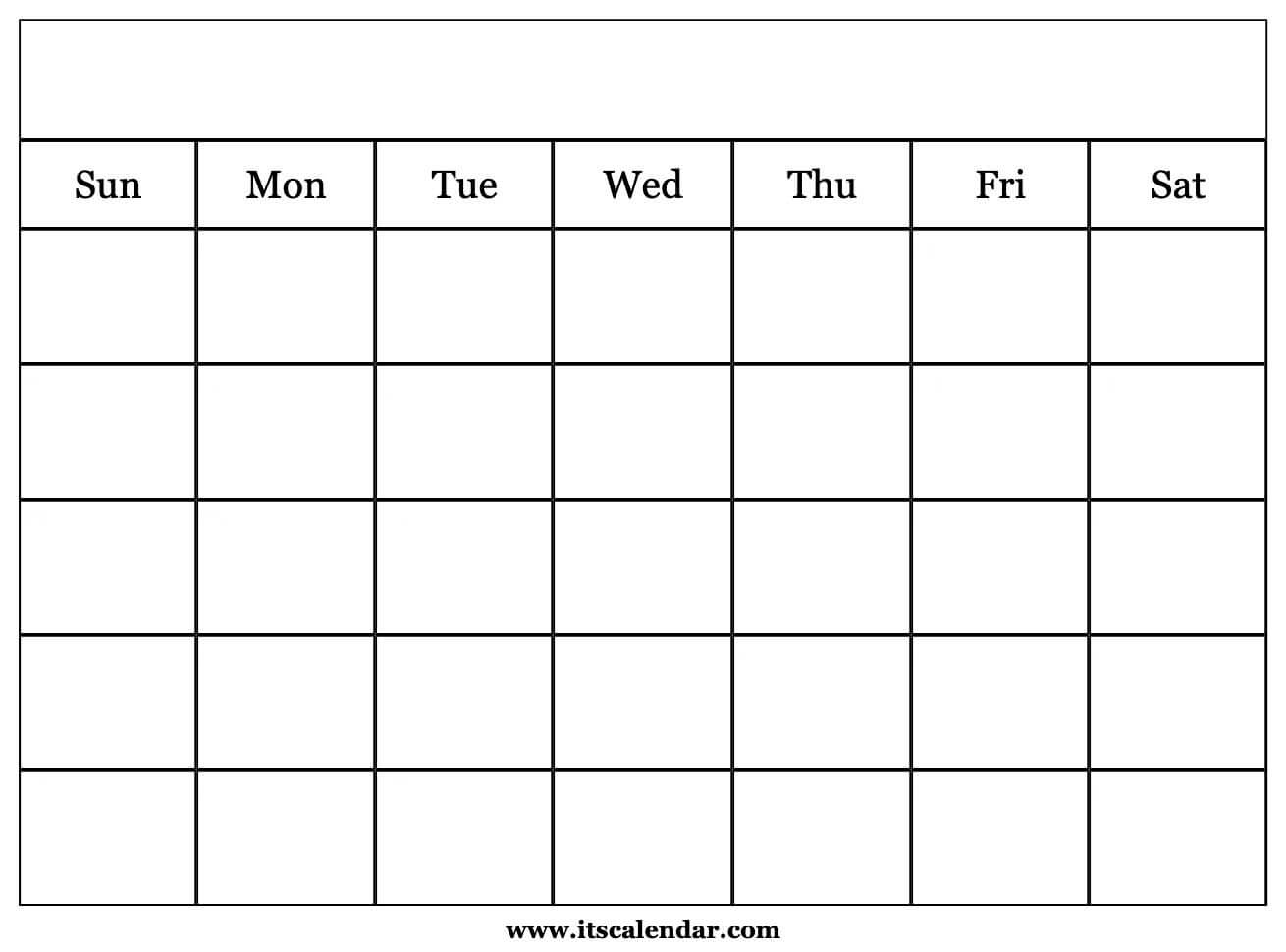 Printable Blank Calendar within Blank Monthly Calendar To Print