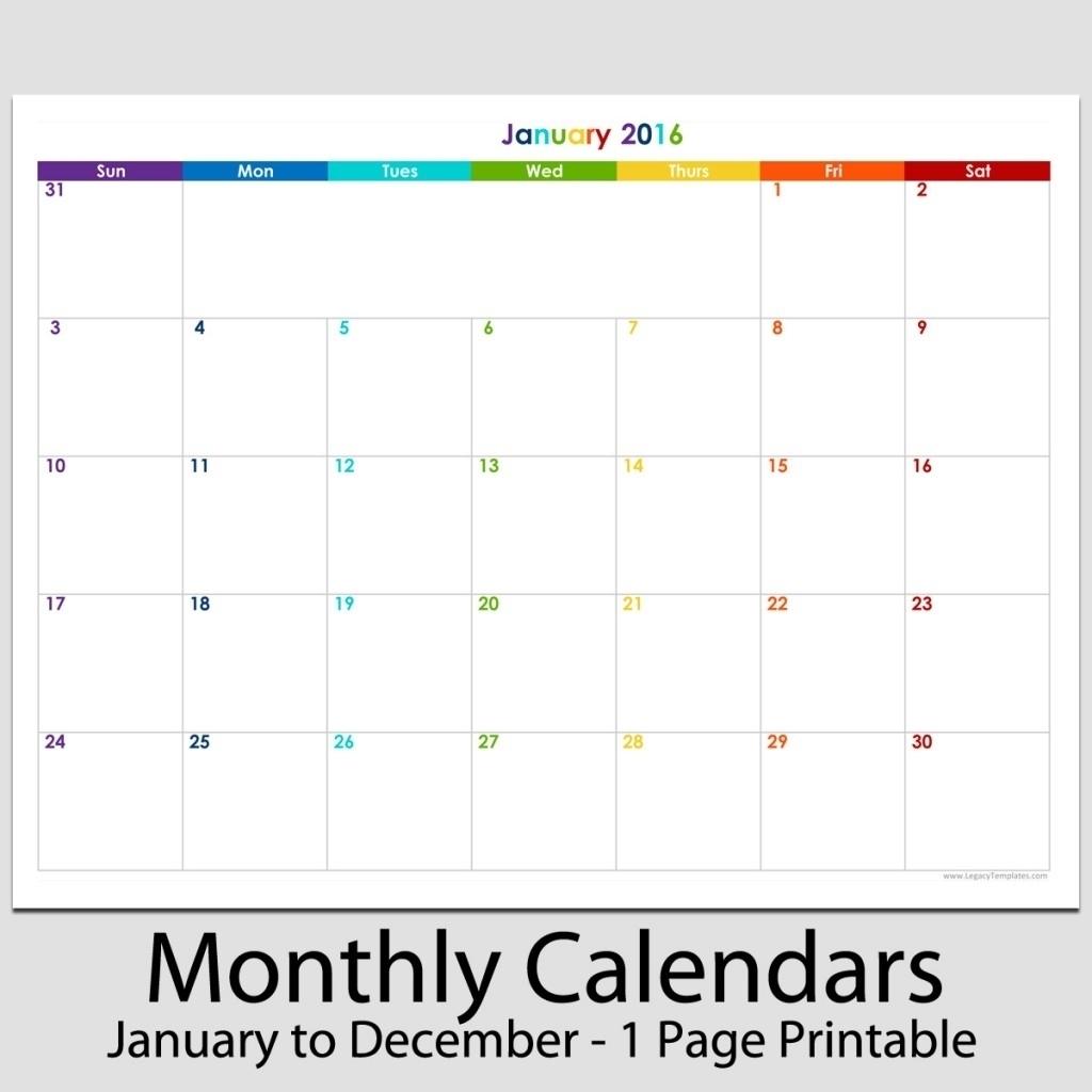Printable Calendar 8 X 11 | Printable Calendar 2019-8.5 X 11 for 8.5 X 11 Printable Calendars