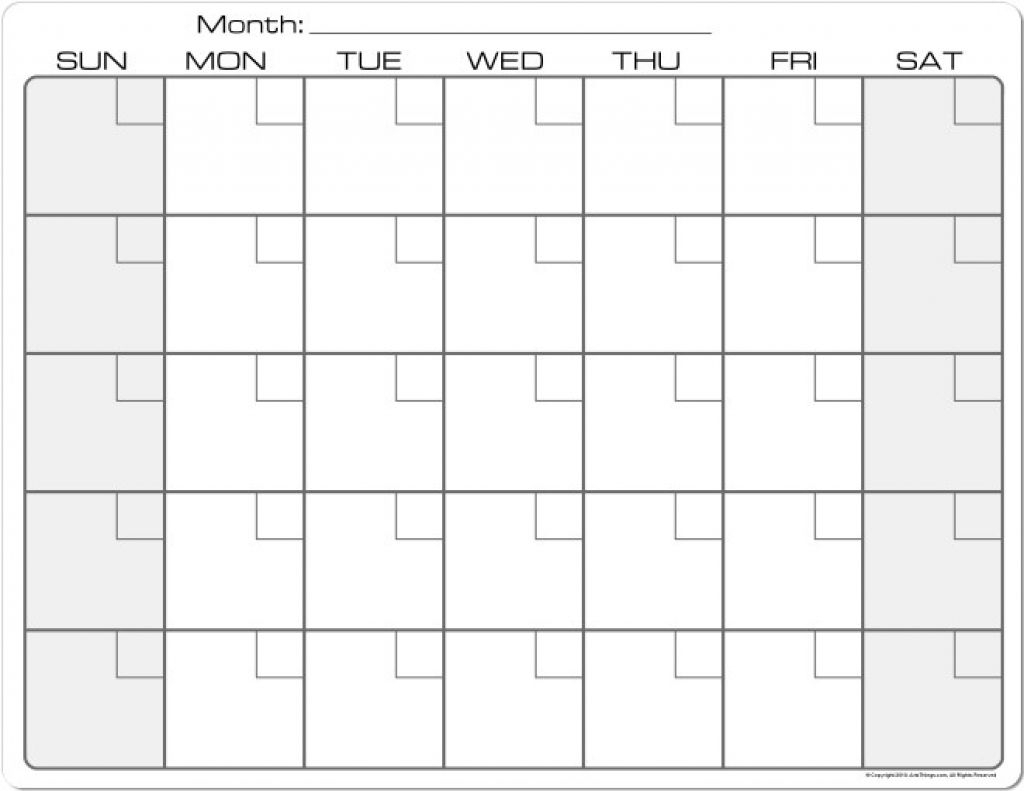 Printable Calendar 8 X 11 | Printable Calendar 2019-Blank intended for 8.5 X 11 Printable Calendars