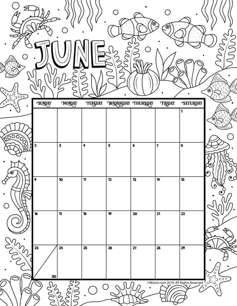 Printable Coloring Calendar 2019 2019 Coloring Pages with Adult Coloring 2020 Calendar Printable