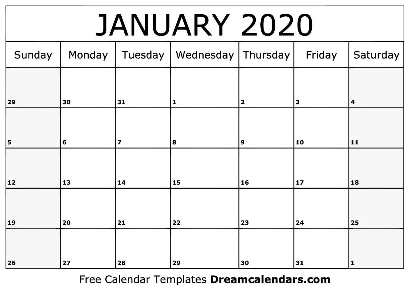 Printable January 2020 Calendar within This Pc Liturgical Colours 2020