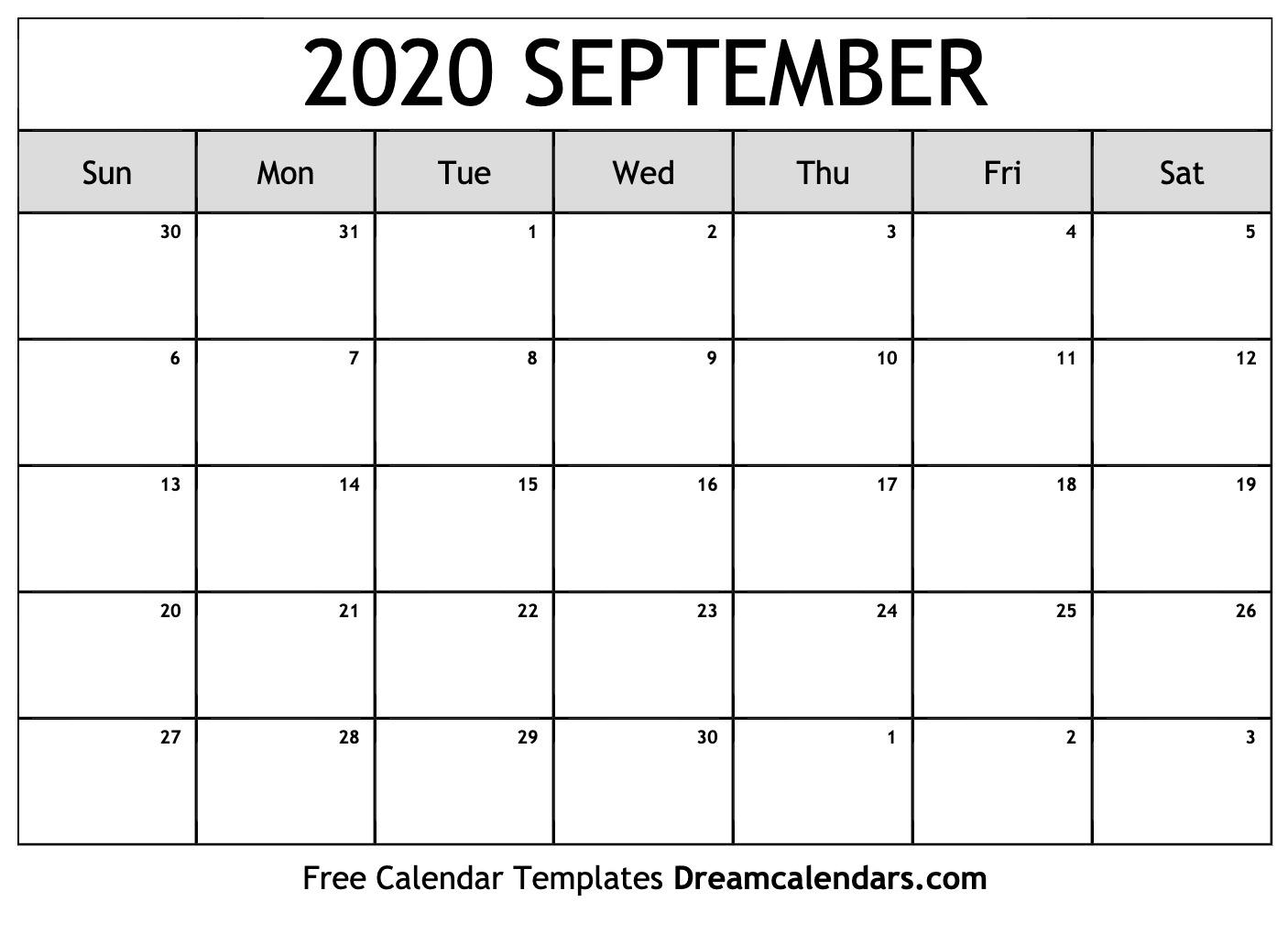 Printable September 2020 Calendar regarding Calendar September 2020 Start Monday Printable Free