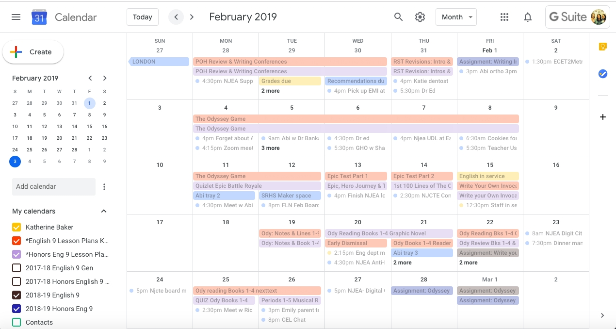 Quick, Paperless Lesson Planning With Google Calendar And regarding Monthly Lesson Plan Calendar Template