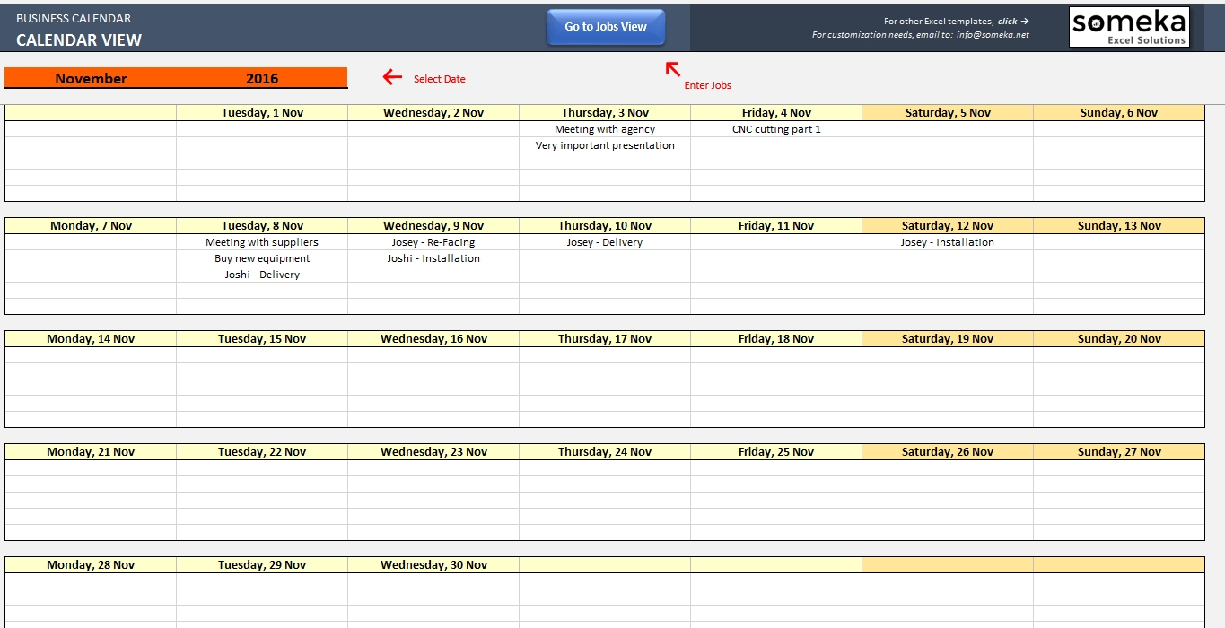 Schedule Planner Excel - Colona.rsd7 for Monday To Friday Timetable Excel