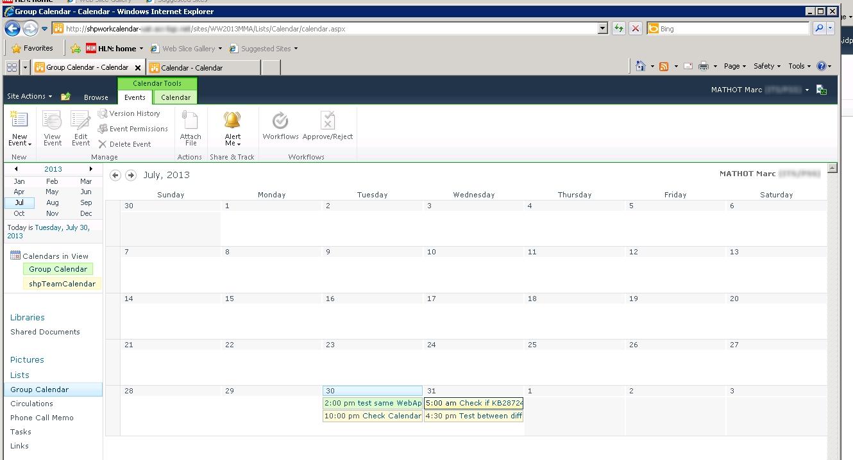 Sharepoint For Dummies: Error 404 With Calendar Overlay in Sharepoint 2013 Calendar Overlay Duplicate