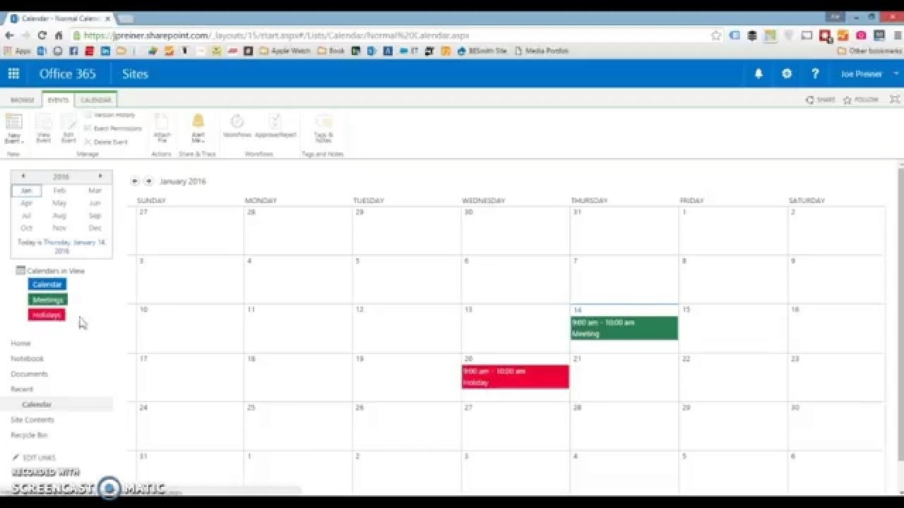 Sharepoint: How To Color Code A Calendar — Sharepoint Simply intended for Calendar Overlay Sharepoint 2013 Duplicates