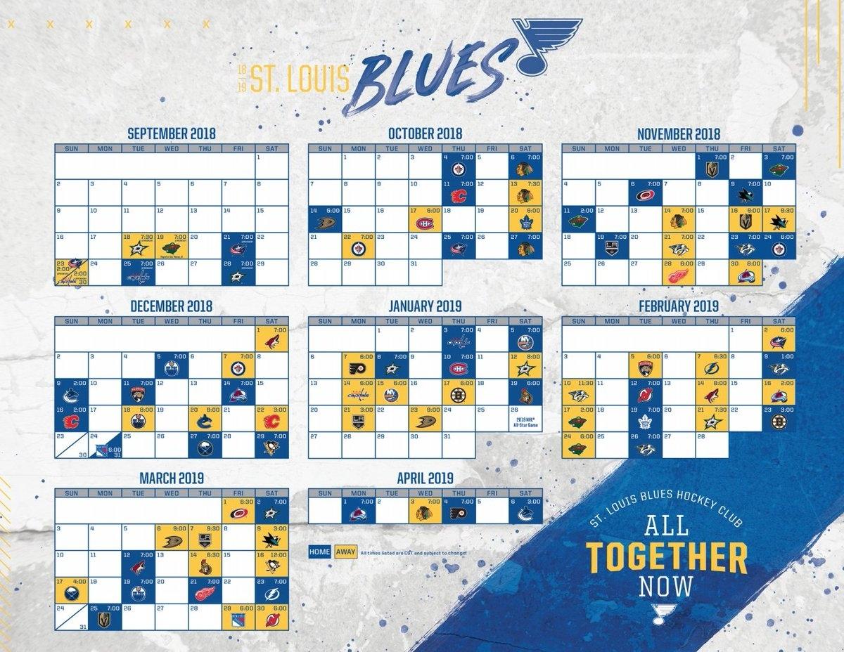 St Louis Blues Printable Schedule That Are Clever   Dan's Blog with regard to Nashville Predators Schedule 2019 20 Printable