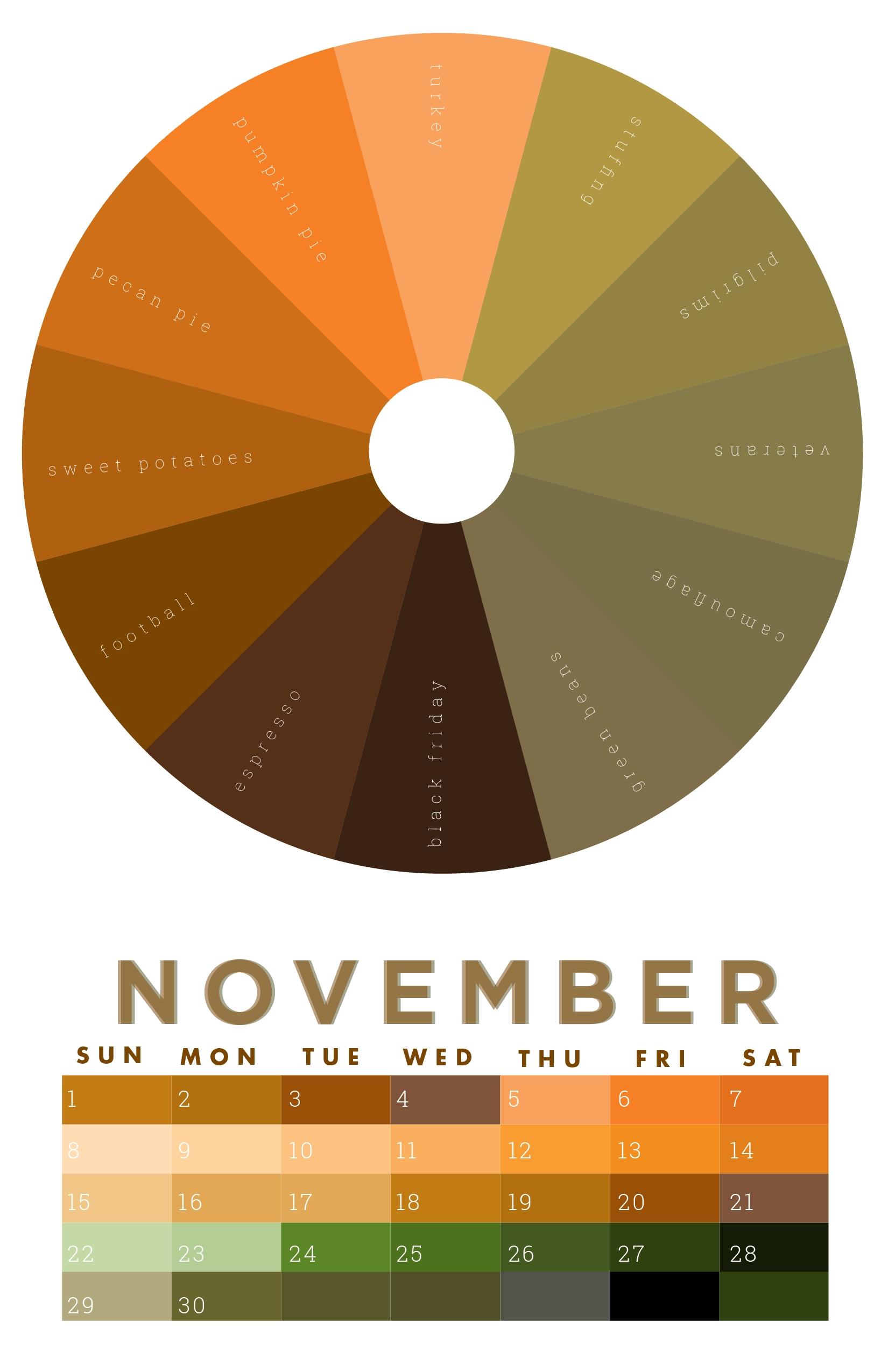 The Colors Of November | November Colors, Month Colors, Color regarding Deisn Your Own Pocket Calender Choose Color