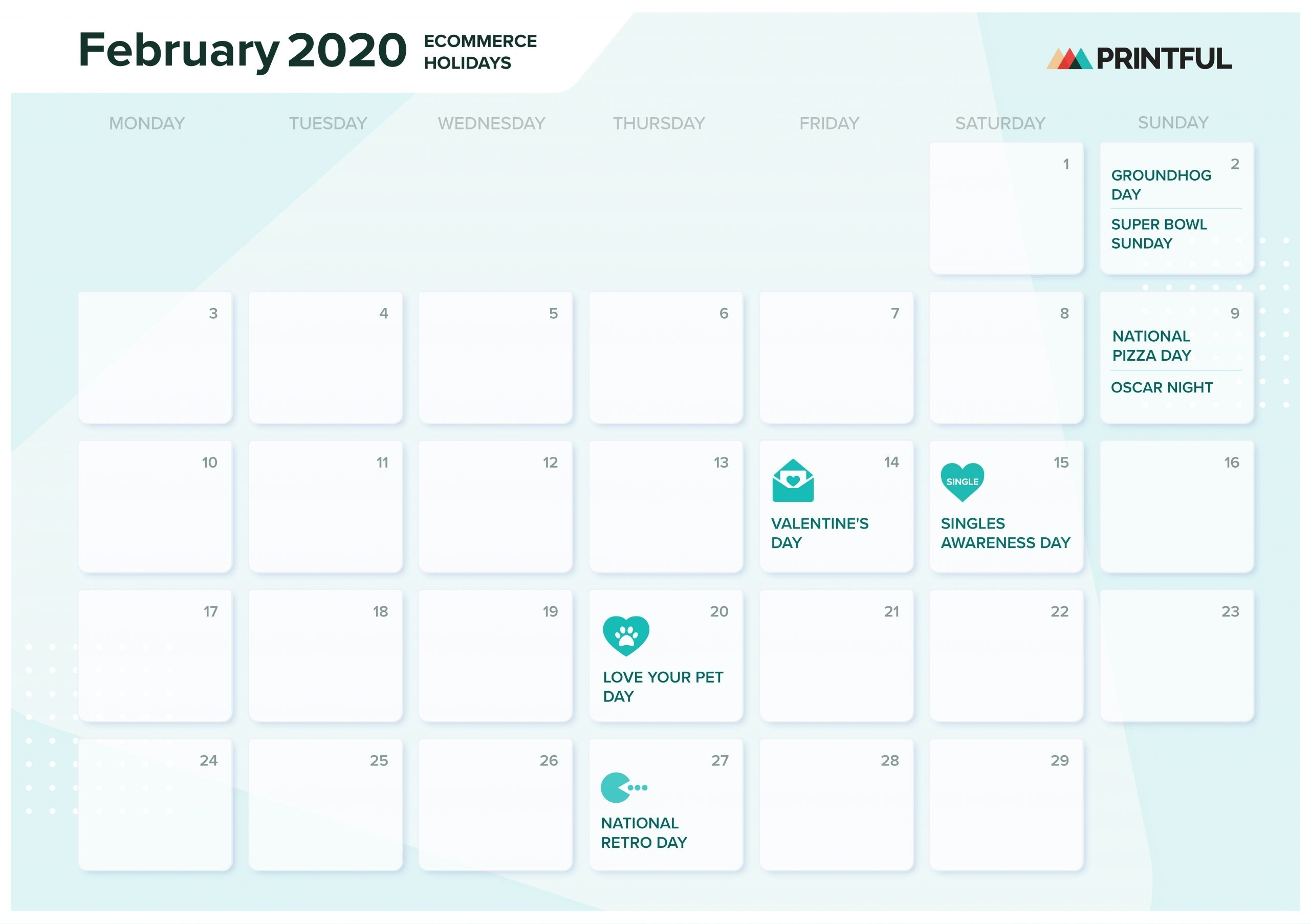 The Ultimate 2020 Ecommerce Holiday Marketing Calendar with Yearly Calendar Of Special Days 2020