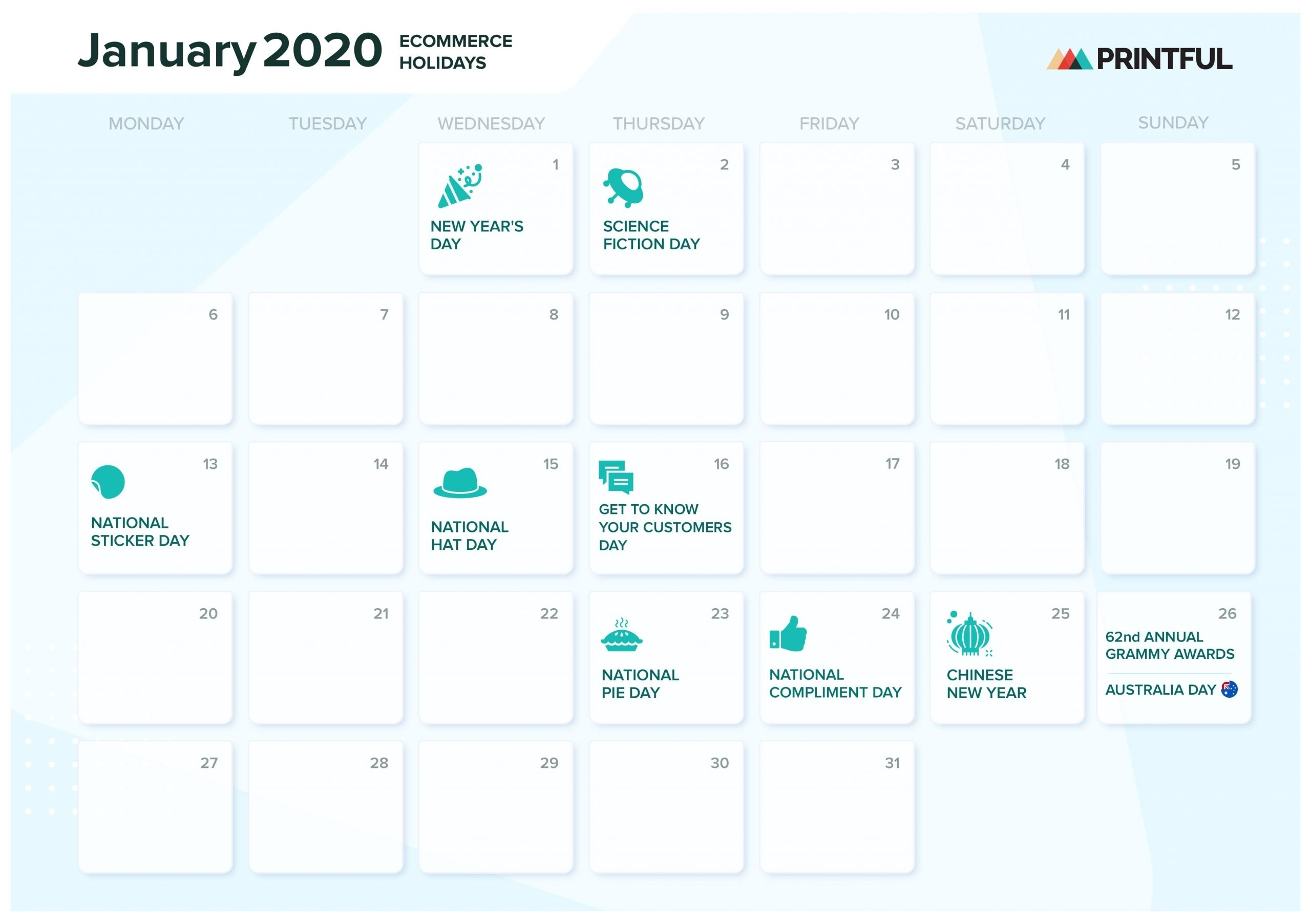 The Ultimate 2020 Ecommerce Holiday Marketing Calendar within Special Days In The Business Calendar 2020