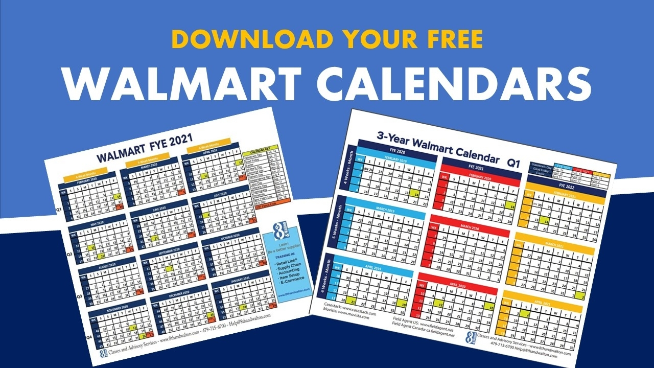 Walmart Fiscal Year Calendar | 2019-2020 | Free Download throughout Us Financial Calendar Week Numbers