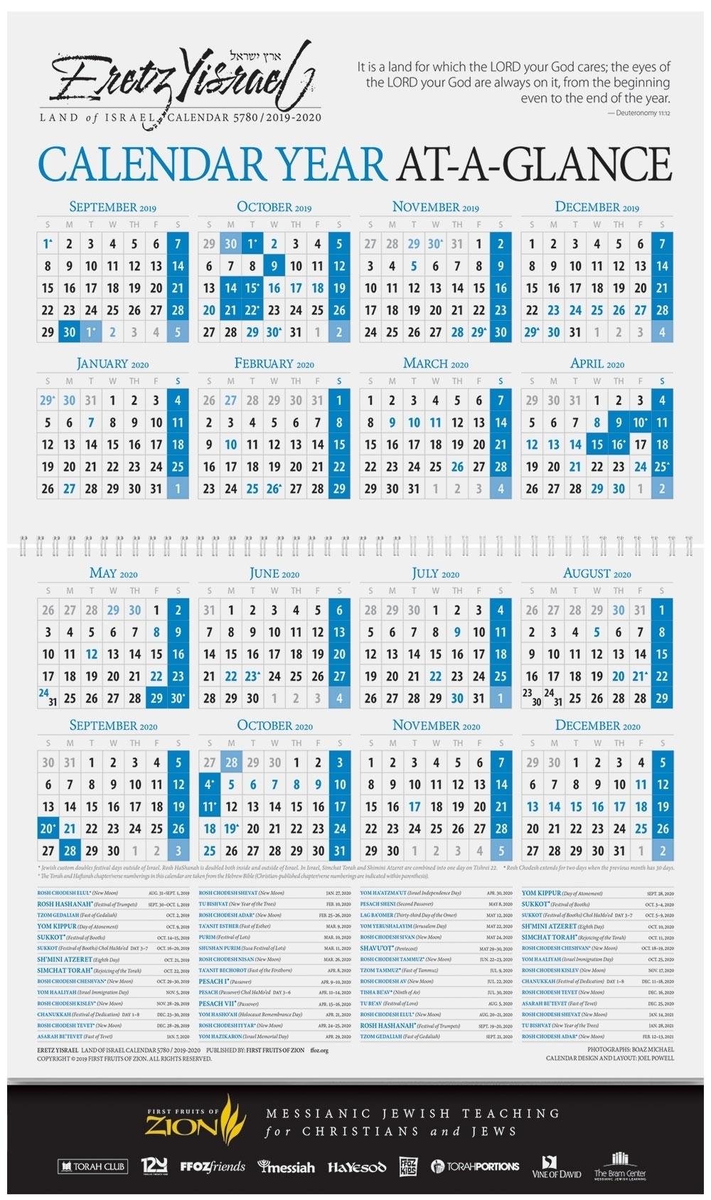 Weekly Torah Parsha Calendar For 2019/2020 - Calendar for This Week's Torah Portion 2019