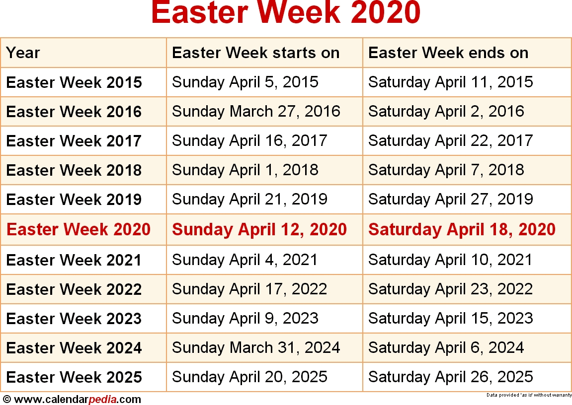 When Is Easter Week 2020? within Looking For A Catholic Liturgical Calendar For 2020