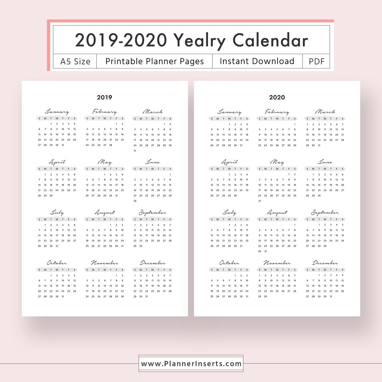 Year At A Glance 2020 - Colona.rsd7 regarding 2020 Year At A Glance Calendar