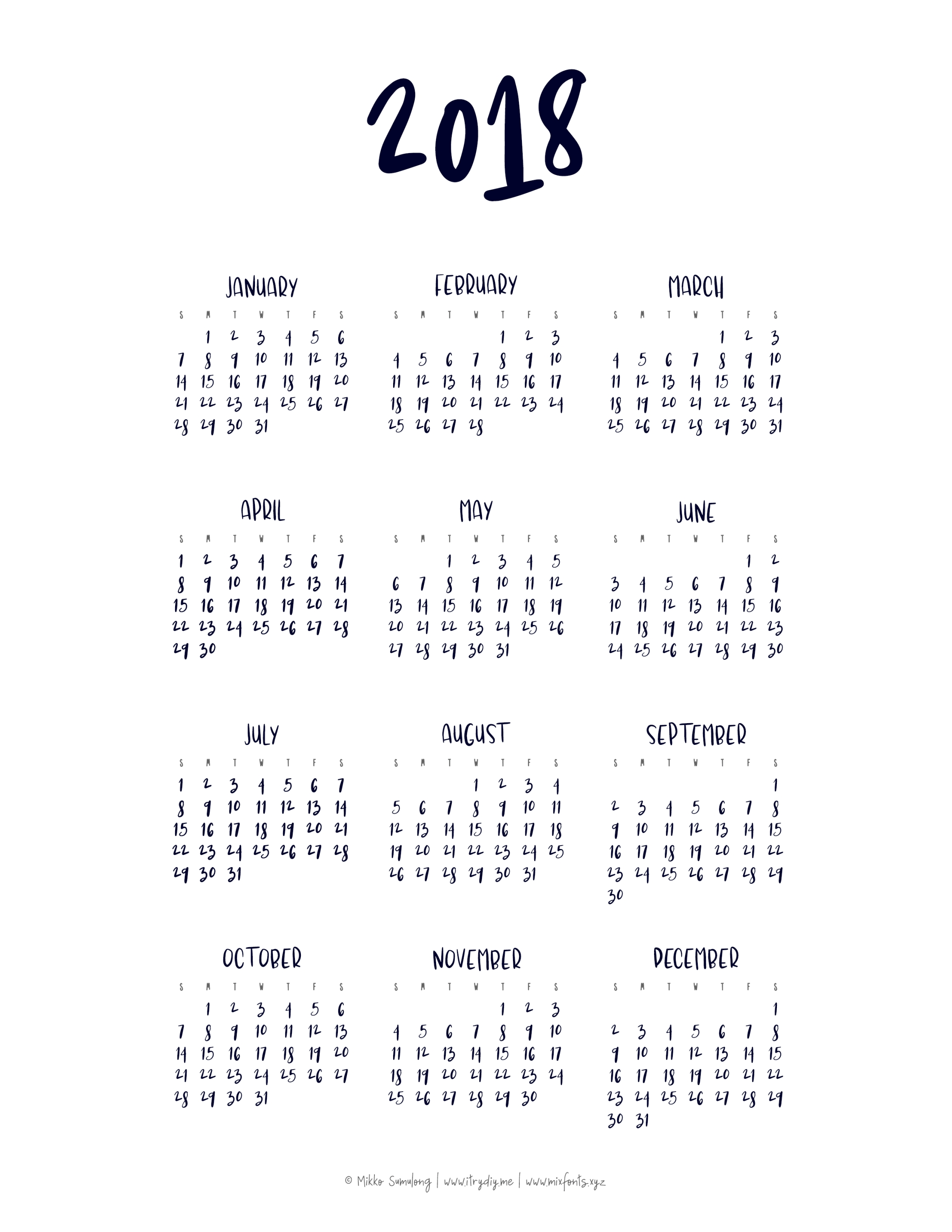 Year At A Glance Calendar | Printable Yearly Calendar, At A for Free Printable Year At A Glance Calendar