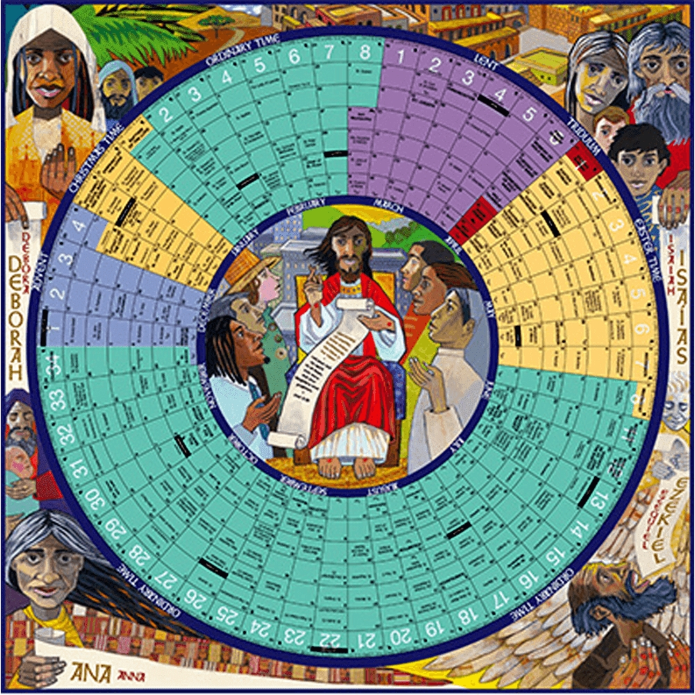 Year Of Grace Liturgical Calendar: 2020 Laminated Poster Edition | Aquinas  And More Catholic Gifts intended for Year A Liturgical Calendar 2020