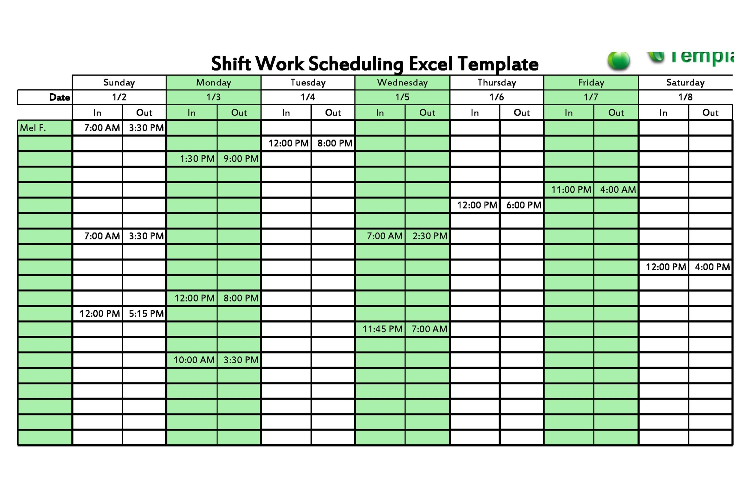14 Dupont Shift Schedule Templats For Any Company [Free] ᐅ in 12 Hour Shift Calendar Templates