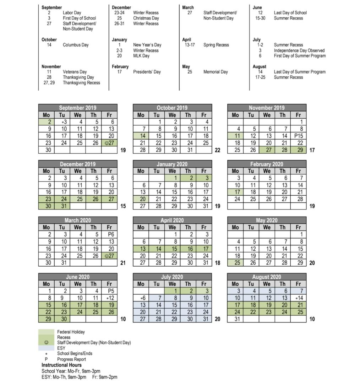 2019-20 Academic Calendar — The Avalon Academy & Avalon regarding Uc Berkeley 2019-2020 Academic Calendar