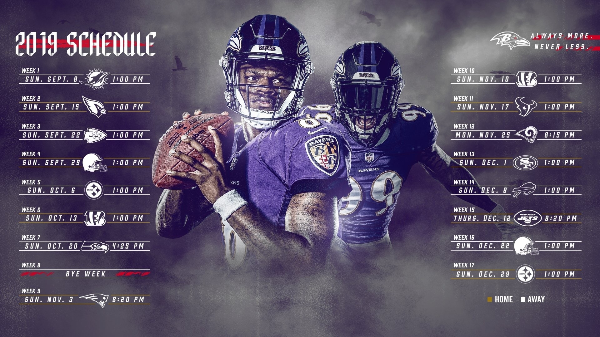 2019-2020 Baltimore Ravens Nfl Regular Season Schedule with regard to Nfl 2019-2020 Remaining Printble Schedule