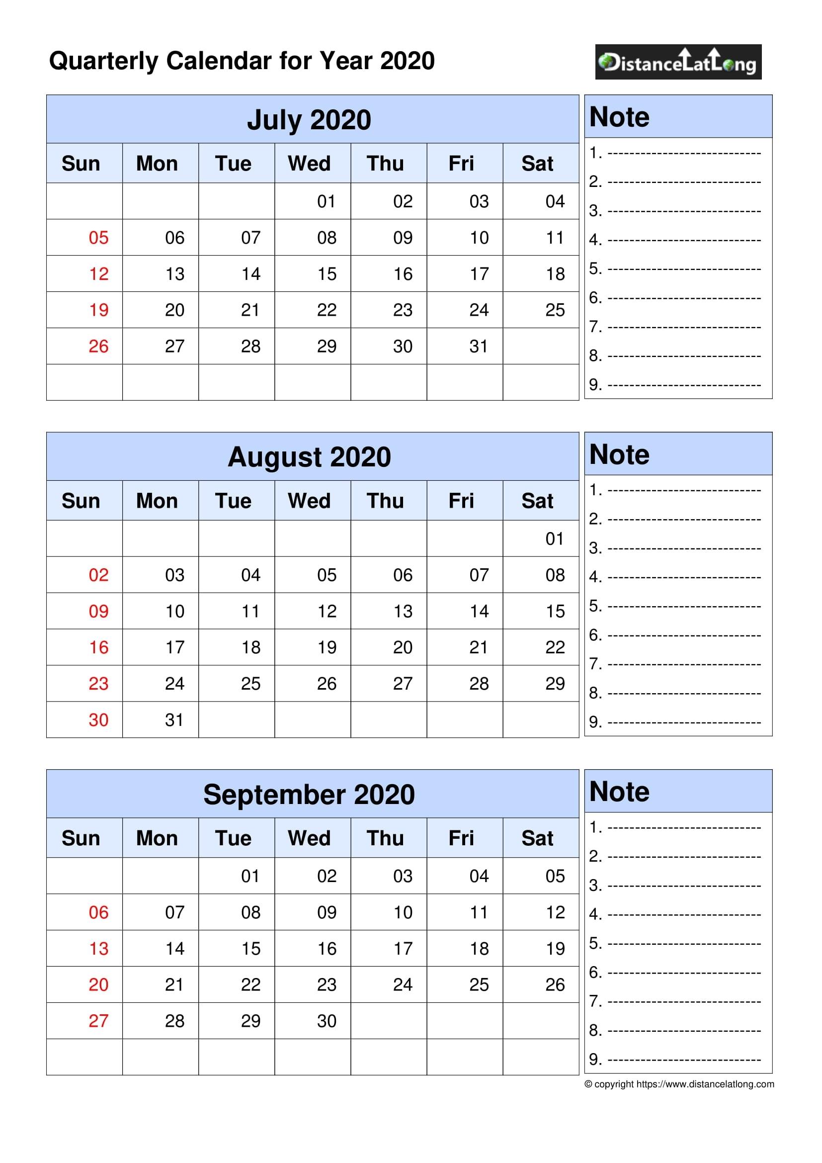 2020 Blank Calendar Blank Portrait Orientation Free within 2020 Printable Quarterly Calendar Template
