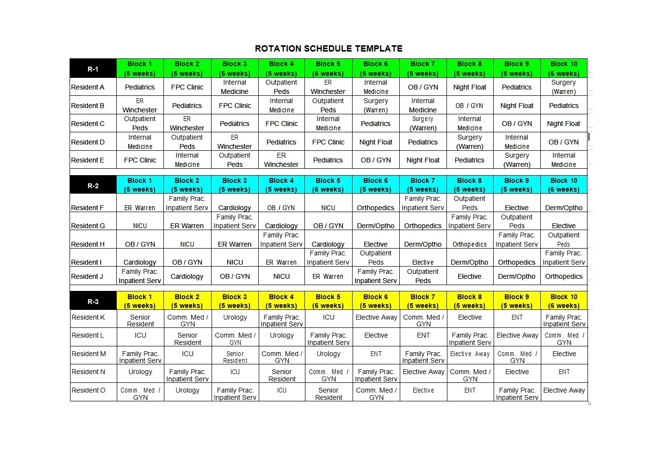 50 Free Rotating Schedule Templates For Your Company within 12 Hour Shift Calendar Templates