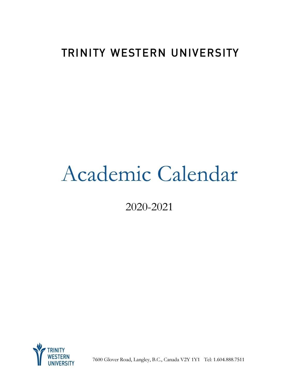 Academic Calendar 2020-21Twu - Issuu within U Of T 2020-2021 Academic Calendar