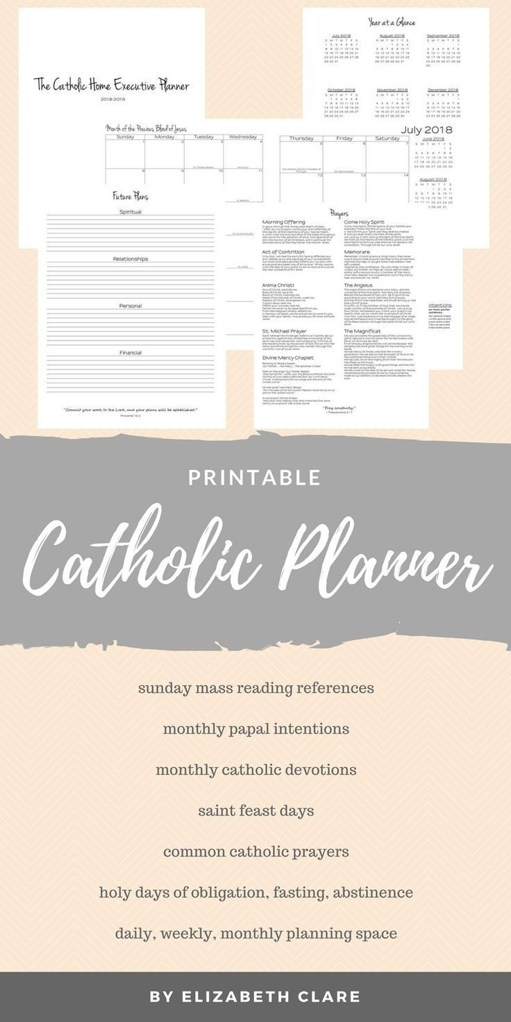 Awesome Printable Catholic Planner! Just What I've Been for Free Printable Catholic Daily Planners