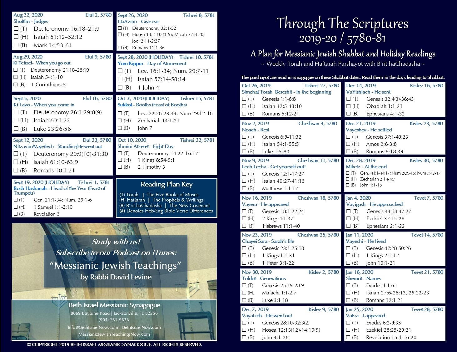 Bible Reading Plan | Bethisraelnow inside Torah Reading Schedule 2019 2020