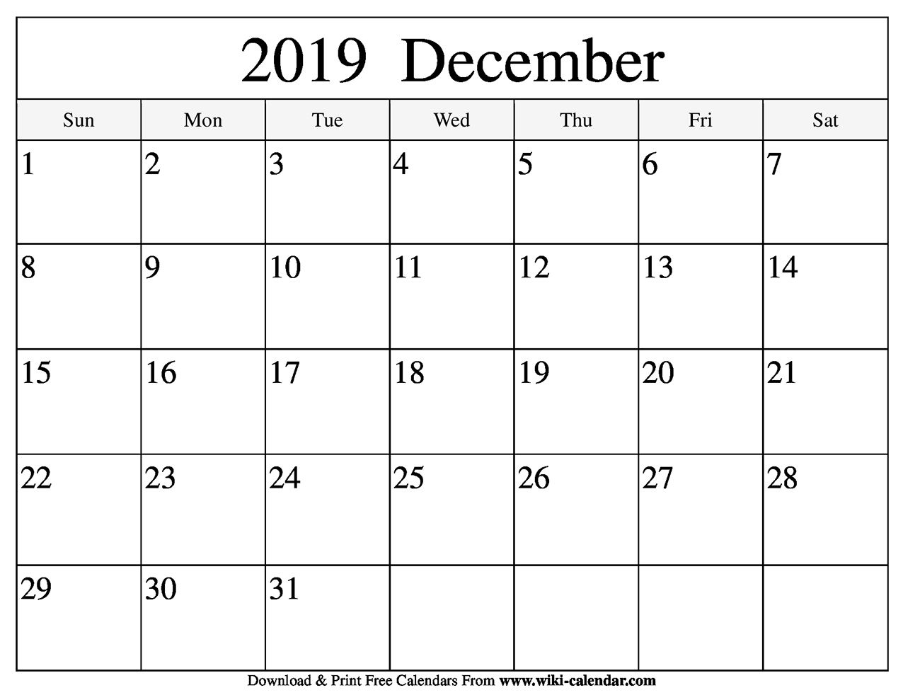 Blank December 2019 Calendar | Printable Calendar July inside 2019 Free Printable Calendars Without Downloading