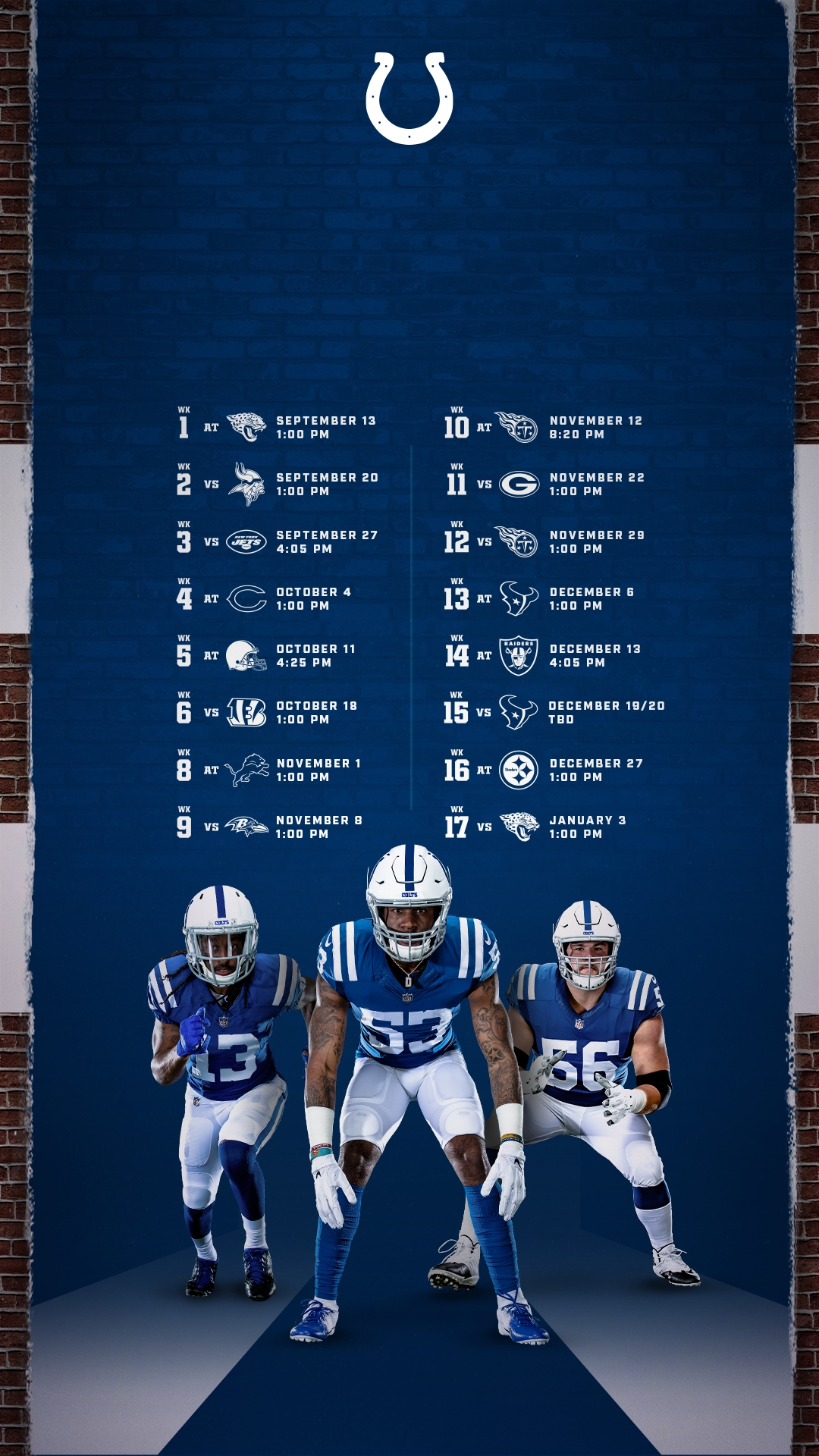 Colts Schedule | Indianapolis Colts - Colts within Nfl 2019-2020 Remaining Printble Schedule
