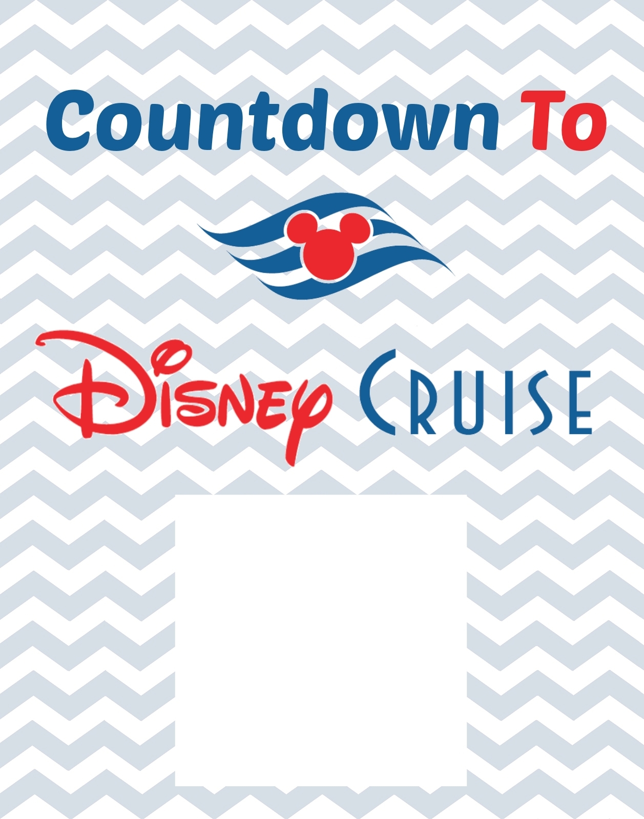 Countdown To Disney Cruise Free Printable - Thesuburbanmom regarding Disney Cruise Countdown Calendar Out Of Paper