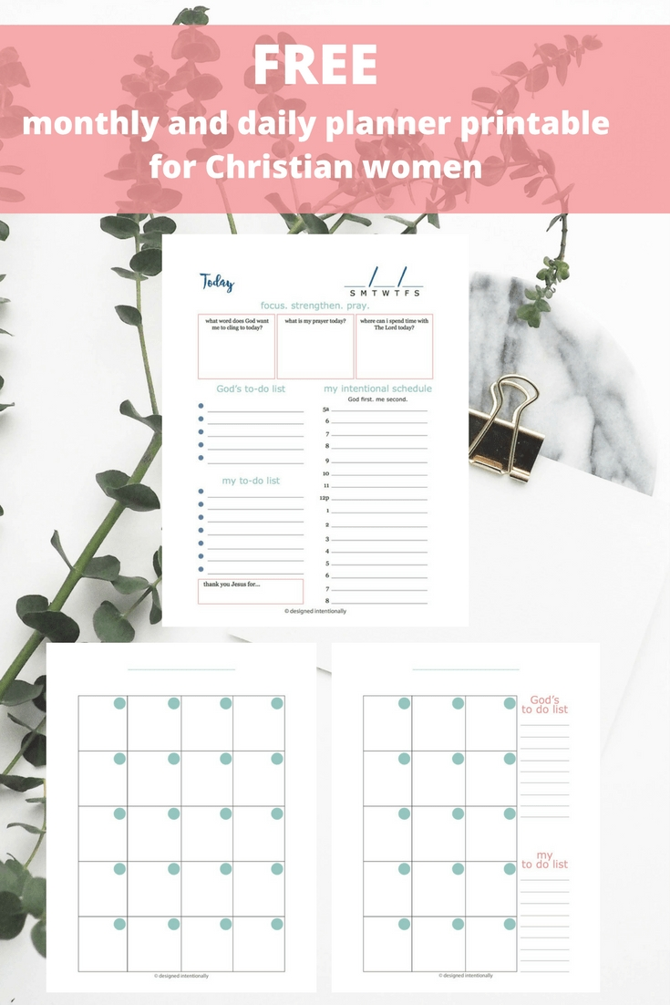 Designed Intentionally | Free Planner Printable | Printable pertaining to Free Printable Catholic Daily Planners