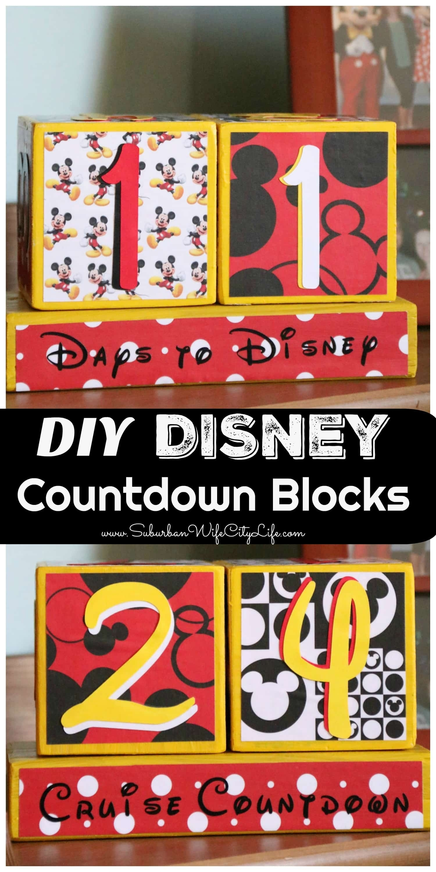 Disney Countdown Blocks | Suburban Wife, City Life inside Disney Cruise Countdown Calendar Out Of Paper
