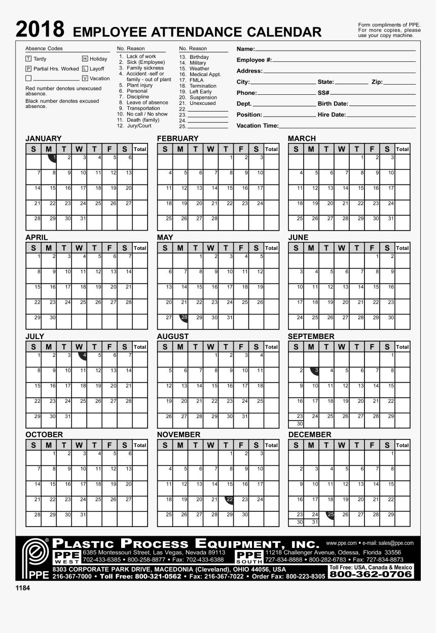 Employee Attendance Calendar Excel - 2020 Employee regarding Free Employee Attendance Calendar 2020