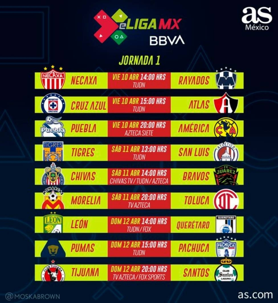 Fechas Y Horarios De La Jornada 1 De La Eliga Mx - As México intended for Liga Mx Clausura 2020 Fechas