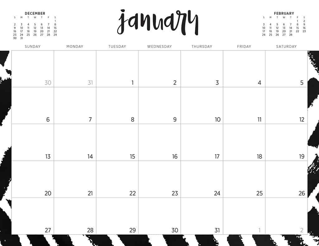 Free 2019 Printable Calendars - 46 Designs To Choose From! within 2019 Free Printable Calendars Without Downloading