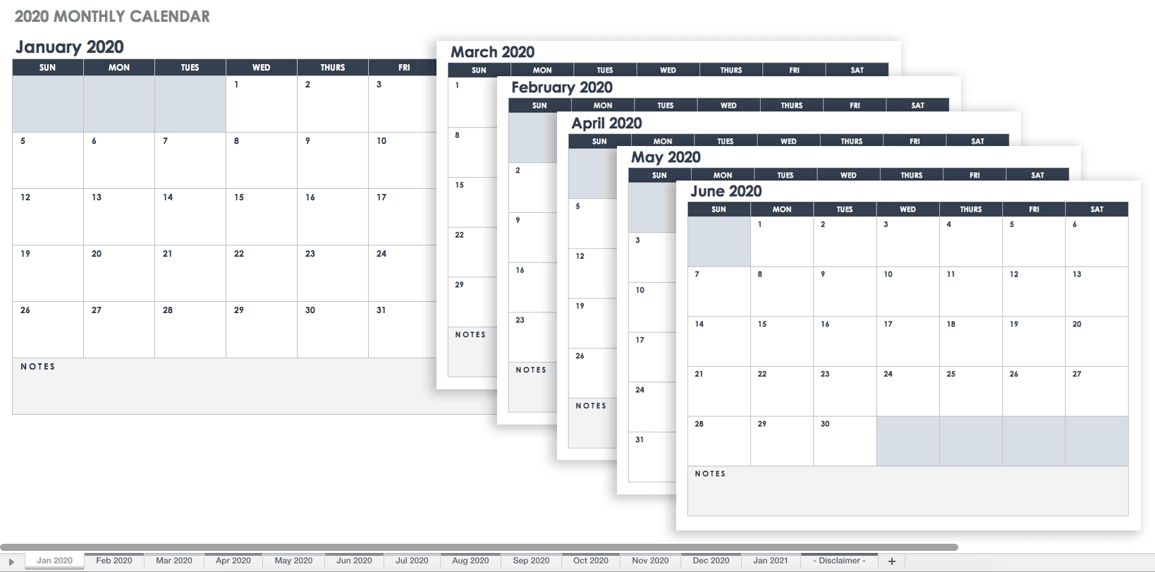 Free Google Calendar Templates | Smartsheet intended for Free Employee Attendance Calendar 2020