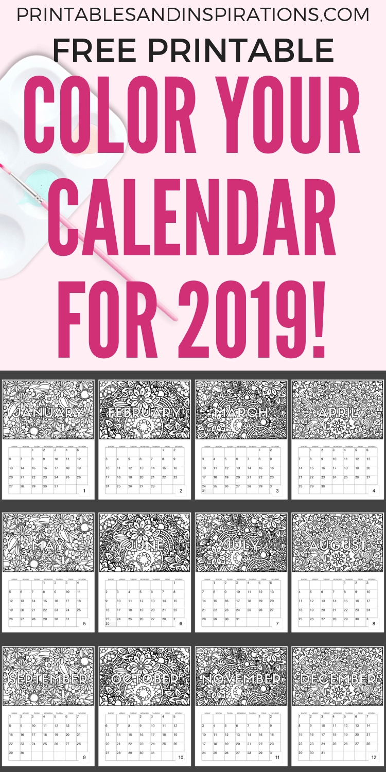 Free Printable 2020 Coloring Calendar Pages | Calendar regarding Free Printable Coloring Calendar 2020