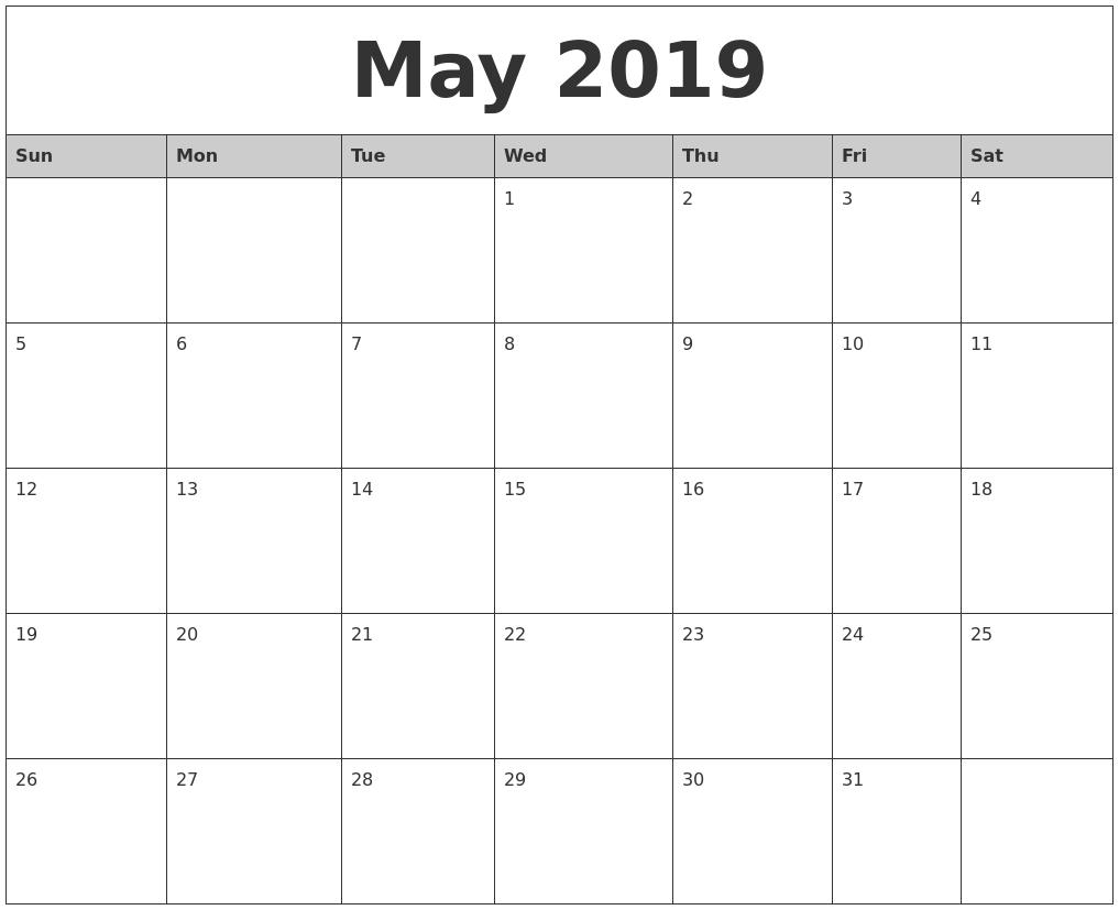 Free Printable Calendar 2018: 2019 Editable Word, Excel pertaining to 2019 Calendar Downloadable Free Word