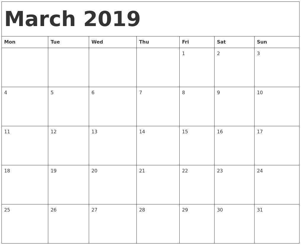 Free Printable Calendar Templates - Download All 2018-19 pertaining to 2019 Free Printable Calendars Without Downloading